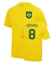 Sócrates Brazil World Cup Football Fancy Dress Player T Shirt